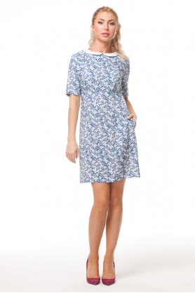 Короткое платье прямого кроя