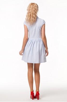 Летнее платье с юбкой бочонок