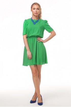 Зеленое платье из штапеля