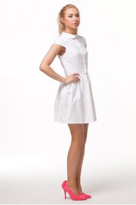 Белое платье с круглым воротничком от Must Have