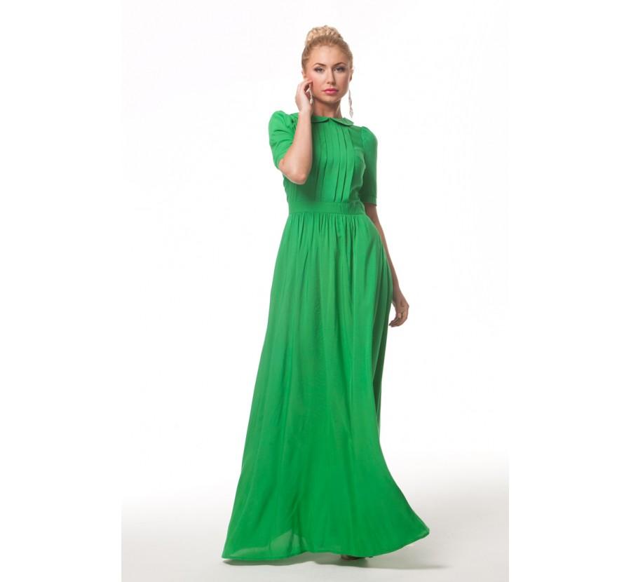Длинное Зеленое Платье Купить