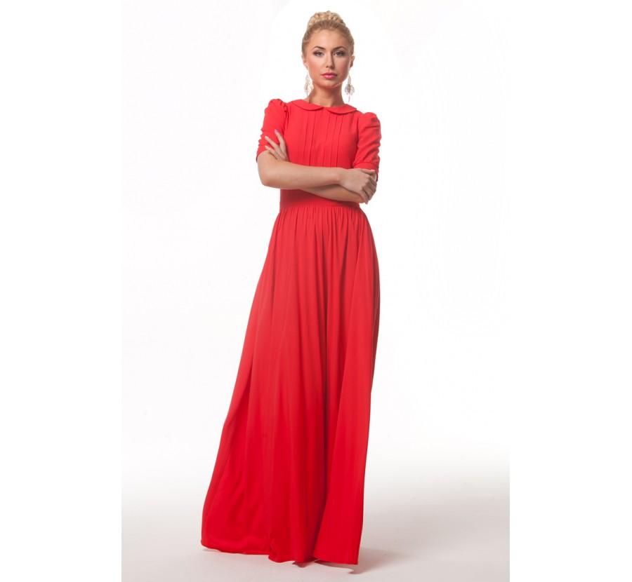 Купить Платье В Пол Красное