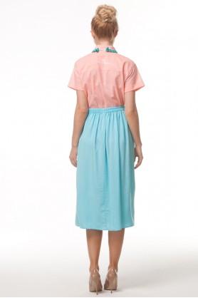 Бирюзовая юбка миди