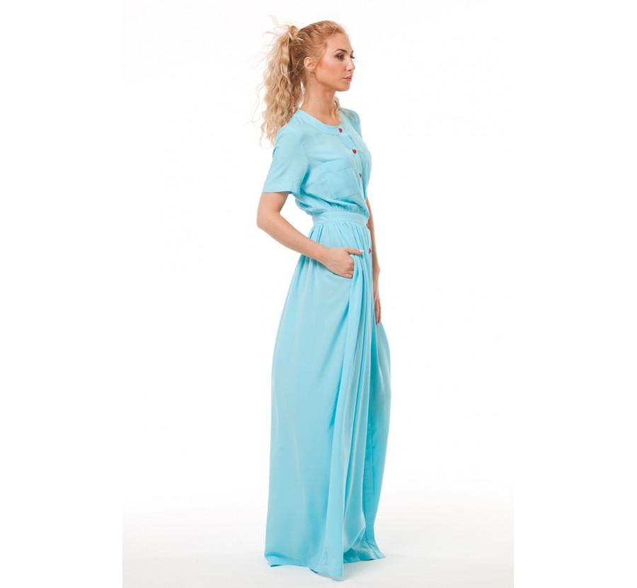 Купить Платье Бирюзовое В Пол