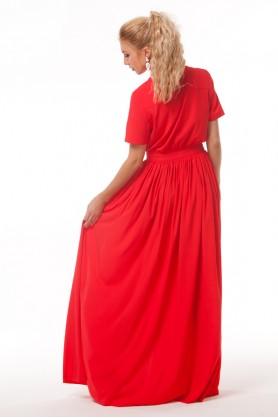 Длинное красное платье в пол