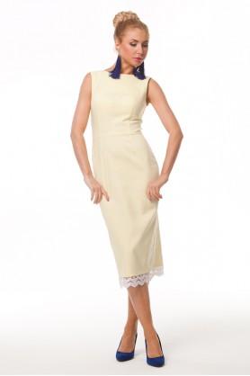 Платье футляр желтого цвета
