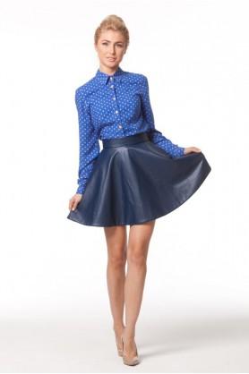 Синяя короткая юбка