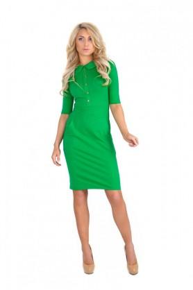 Зеленое элегантное платье