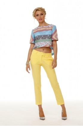 Желтые брюки карго от Must Have-33504