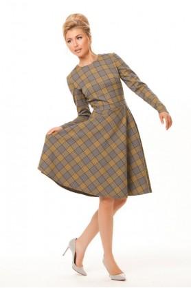 Клетчатое платье осень-зима от MUST HAVE