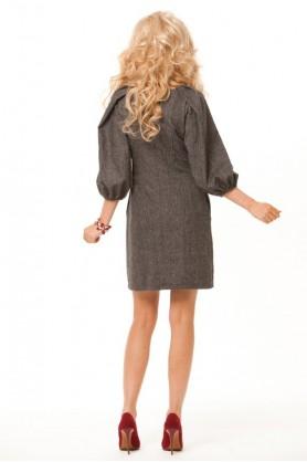 Короткое теплое платье