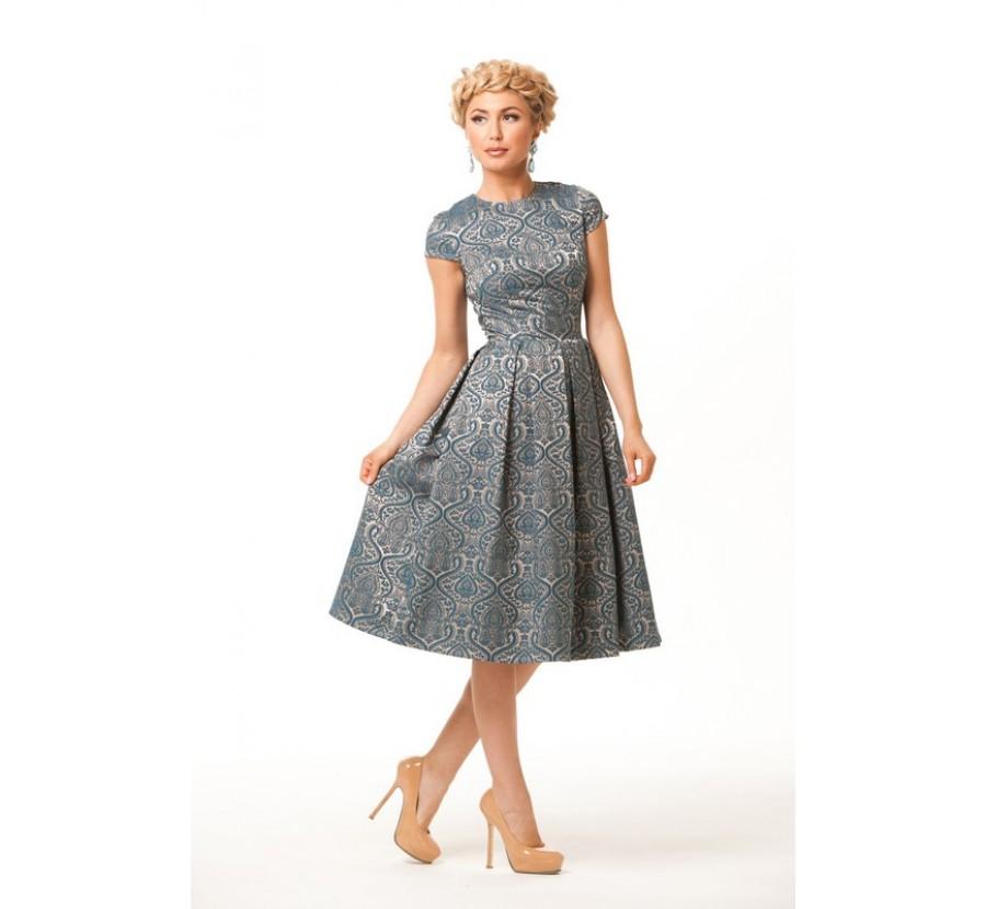 Платье из жаккарда для девочки сшить