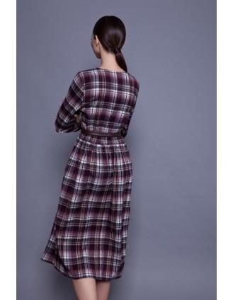 Клетчатое повседневное платье