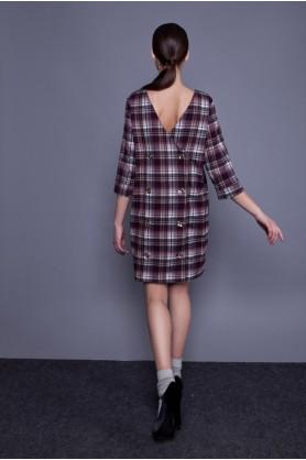 Короткое платье в клетку от Anna Yakovenko