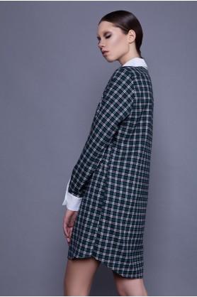 Зеленое клетчатое платье от Anna Yakovenko