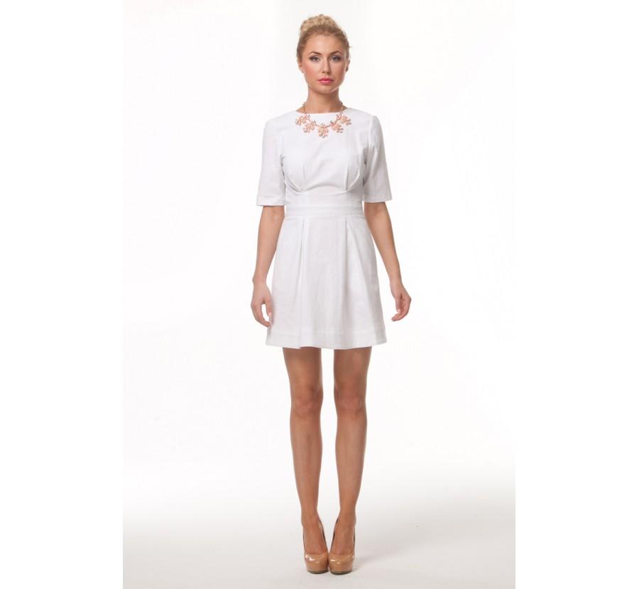 Короткое Белое Платье Купить В Москве