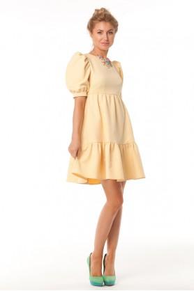 Дизайнерское желтое платье