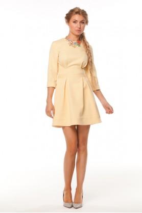 Милое желтое платье