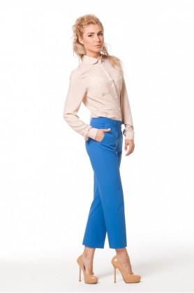 Синие прямые брюки