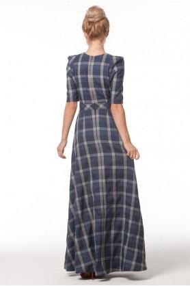 Вечернее клетчатое платье