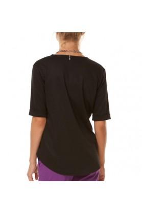 Модная черная блуза