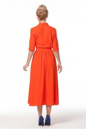 Яркое платье из штапеля