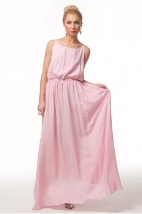 Розовое платье из штапеля