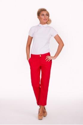 Красные стильные брюки