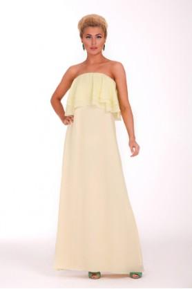 Нарядное желтое платье
