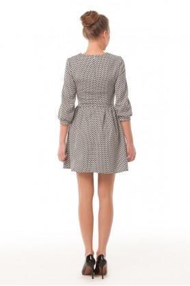 Короткое офисное платье