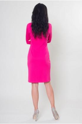 Платье трикотажное розовое