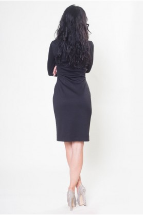 Платье с черными вензелями