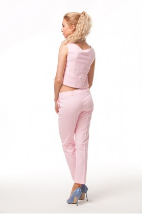 Розовый короткий топ